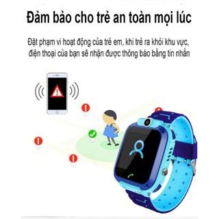 Đồng hồ định vị trẻ em Q12 chống nước lắp được sim - 8600406230 8