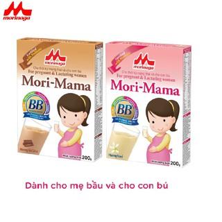 Combo 2 hộp Sữa bầu Morinaga dành cho phụ nữ thời kỳ mang thai và cho con bú Mori Mama - khác vị 200gr - cb2-morimama-2vi thumbnail