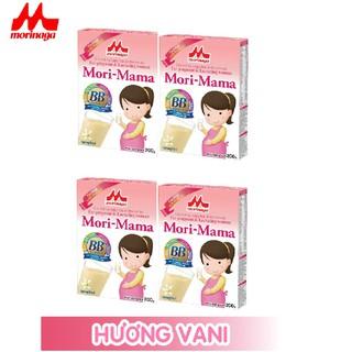 Combo 4 hộp Sữa bầu Morinaga dành cho phụ nữ thời kỳ mang thai và cho con bú Mori Mama - hương vani 200gr - cb4-morimama-vani thumbnail