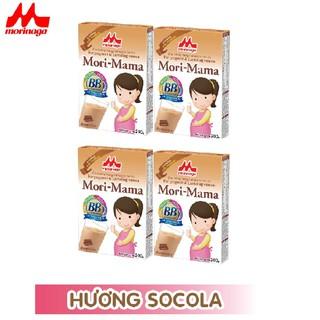 Combo 4 hộp Sữa bầu Morinaga dành cho phụ nữ thời kỳ mang thai và cho con bú Mori Mama - khác vị 200gr hộp - cb4-morimama- khacvi thumbnail