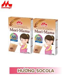 Combo 2 hộp Sữa bầu Morinaga dành cho phụ nữ thời kỳ mang thai và cho con bú Mori Mama - hương socola, vani - cb2-morimama-socola thumbnail