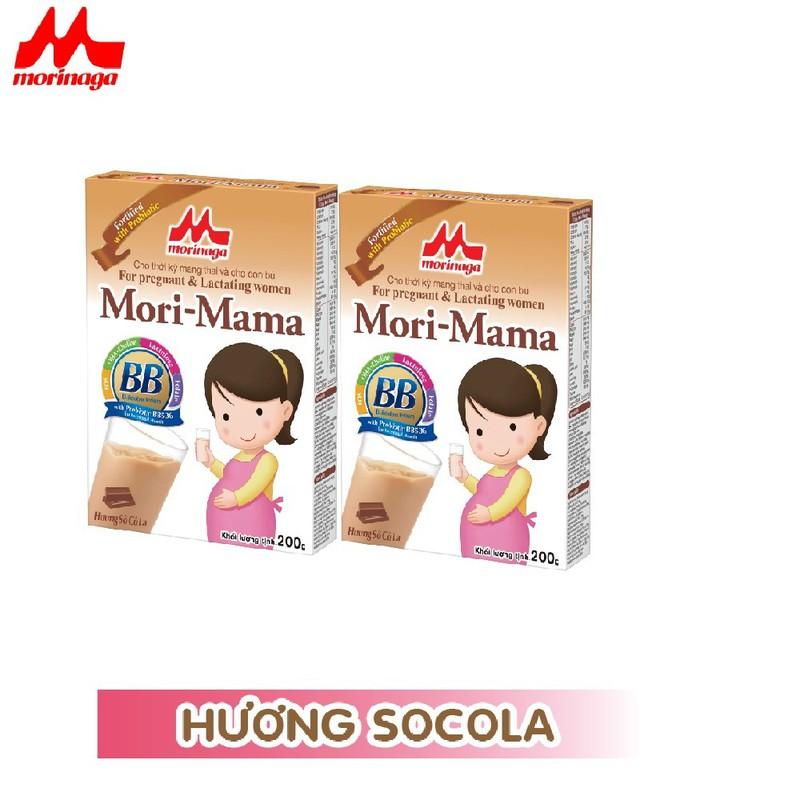 Combo 2 hộp Sữa bầu Morinaga dành cho phụ nữ thời kỳ mang thai và cho con bú Mori Mama - khác vị 200gr - cb2-morimama-2vi 3