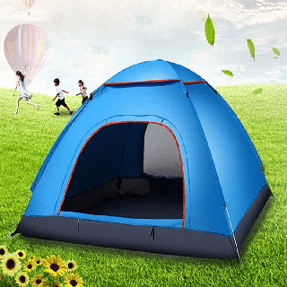 Lều Cắm Trại - Lều mầu xanh-8ur thumbnail