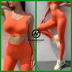 Đồ tập gym nữ   set naqui 133  thun dệt kim co giản mạnh
