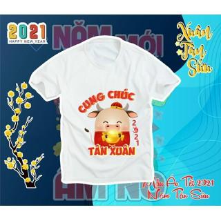 Áo thun trẻ em TẾT TÂN SỬU 2021 siêu cute - áo thun tết thumbnail