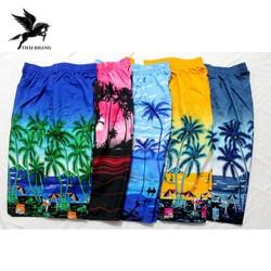 [Combo 3] Quần đùi nam cây dừa vải dù mặc ở nhà đi chơi biển freesize dưới 80kg