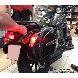 Cặp Thùng Hông Honda Rebel 300-500cc +Bộ Pass Ốc Vít