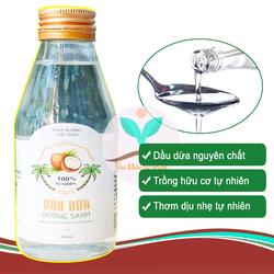 Dầu dừa hữu cơ nguyên chất 100ml dùng để dưỡng ẩm cho da, dưỡng tóc, dưỡng mi, chăm sóc làm đẹp...