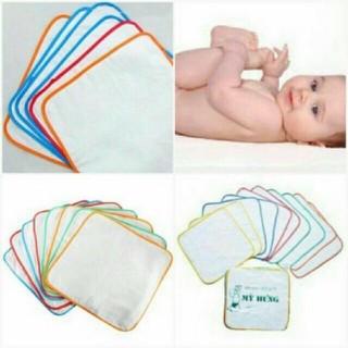 Siêu khuyê n ma i - Khăn lót, tấm lót cho bé loại 2 lớp (1 lớp khăn, 1 lớp chống thấm) size to , cực mềm, tiện dụng, giá rẻ - Kem4 thumbnail