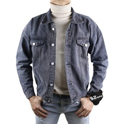 Áo Khoác Bò Nam Xanh Đậm Thời Trang Hàn Quốc SZone SA603
