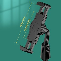 Giá đỡ điện thoại Cát Thái ZJL8 dành cho livestream xoay 360 độ mọi góc nhìn, có thể điều chỉnh độ cao, phần đế dày và nặng rất vững chắc, giá kẹp chống trượt chống trầy - Bảo hành 3 tháng [ĐƯỢC KIỂM HÀNG] 35843117