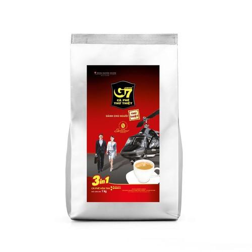 ( Date 11/2022) Cà phê hòa tan G7 3in1 – Bịch 1 kg Trung Nguyên ( có thể dùng pha máy chuyên dụng )