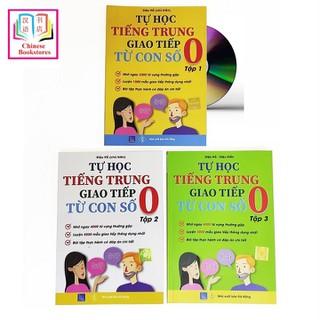 Combo 3 sa ch Tự học tiếng Trung giao tiếp từ con số 0 tập 1 tập 2 tập 3 + DVD ta i liê u - DISA-THGTTS0-123B600 thumbnail