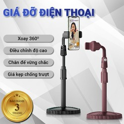 Giá đỡ điện thoại Cát Thái ZJL8 dành cho livestream xoay 360 độ mọi góc nhìn, có thể điều chỉnh độ cao, phần đế dày và nặng rất vững chắc, giá kẹp chống trượt chống trầy - Bảo hành 3 tháng