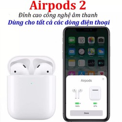 Tai Nghe Bluetooth Cao Cấp Airpods 2 Định Vị, Đổi Tên - Dùng Cho Tất Cả Smartphone