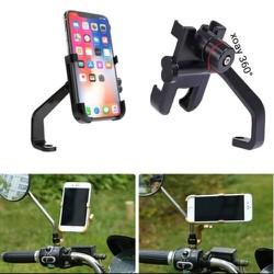 Giá đỡ điện thoại C2 - Freeship - Kẹp điện thoại trên xe máy, chất liệu Kim loại xoay 360 không gỉ, không bay màu