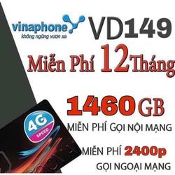 Sim vina gói vd149 sử dụng data, thoại nội mạng, ngoại mạng miễn phí 1 năm