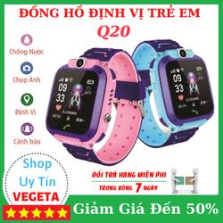 (Bảo Hành 12 Tháng) Đồng hồ định vị trẻ em Q20 Lắp Sim Nghe Gọi