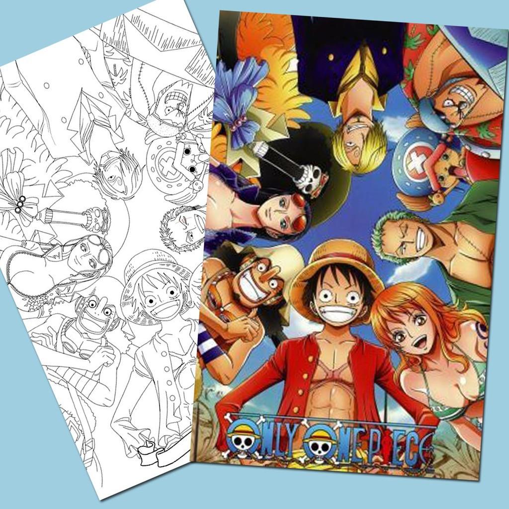 Line Art Tranh tô màu Anime One Piece được chọn mẫu - Dành cho các Fan của One  Piece yêu thích sáng tạo, giá chỉ 10,000đ! Mua ngay kẻo hết!