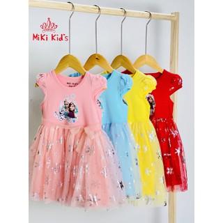 Đầm Elsa cho bé gái đầm bé gái Elsa đầm noel đầm tết cho bé gái hàng Việt Nam Size 1-8