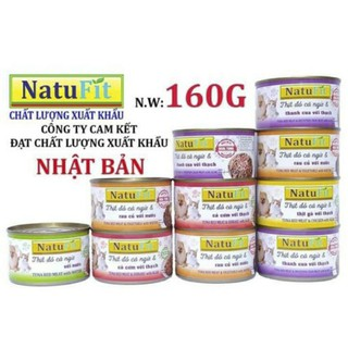 [ FS_SENDO mã freeship từ 0 đồng ] Pate mèo NatuFit 160g Pate ướt thạch cá ngừ dùng các lứa tuổi - kén ăn - dưỡng chất - năng lượng - natufit thumbnail