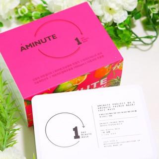 [MUA 1 TẶNG 1] Hộp mặt nạ 30 miếng dưỡng trắng da Hàn Quốc Aminute Primer Mask - 048 thumbnail