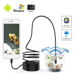 Camera nội soi 7mm cắm qua điện thoại hoặc USB máy tính hỗ trợ sửa chữa oto, xe máy, điều hòa