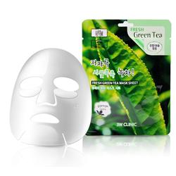 Bộ 10 gói Mặt nạ dưỡng da trà xanh 3W Clinic Fresh Green Tea Mask Sheet