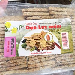 Bánh quy gạo lứt mầm Ngok Linh 300g-cho trẻ nhỏ & người già ăn dặm, người ăn chay, kiêng ít đường, eat clean