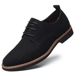 Giày Tây Da Lộn Thời Trang Màu Đen Big Size 45-46-47-48