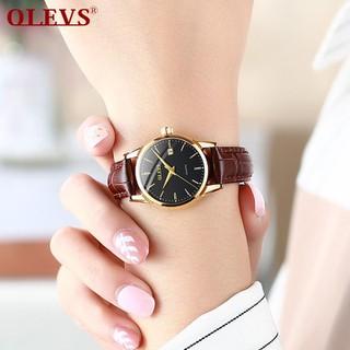 Đồng hồ đôi nam nữ chính hãng OLEVS, dây da bò cực mềm, fulbox chính hãng, mặt kính chống chầy xước,va đập và chống nước tốt, món quà ý nghĩa dành cho các cặp đôi - BH 12 THÁNG - ĐH ĐÔI OLEVS 2
