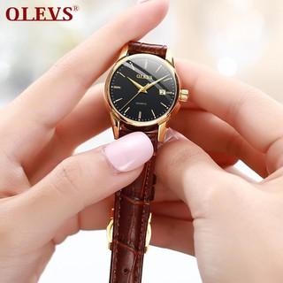 Đồng hồ đôi nam nữ chính hãng OLEVS, dây da bò cực mềm, fulbox chính hãng, mặt kính chống chầy xước,va đập và chống nước tốt, món quà ý nghĩa dành cho các cặp đôi - BH 12 THÁNG - ĐH ĐÔI OLEVS 4