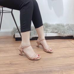 Sandal cao gót nữ 6p gót S (miễn ship khách lấy như hình hướng dẫn)