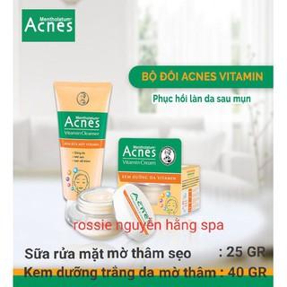 Combo bộ Sữa rửa mặt acnes vitamin sáng da mờ thâm & Kem dưỡng da Acnes vitamin mờ thâm - 1795 thumbnail