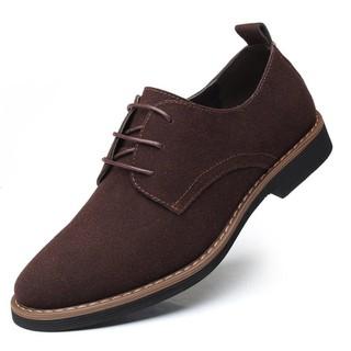 Giày Tây Da Lộn Thời Trang Màu Nâu Big Size 45-46-47-48 - df89g7 thumbnail