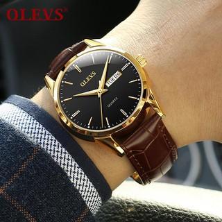 Đồng hồ đôi nam nữ chính hãng OLEVS, dây da bò cực mềm, fulbox chính hãng, mặt kính chống chầy xước,va đập và chống nước tốt, món quà ý nghĩa dành cho các cặp đôi - BH 12 THÁNG - ĐH ĐÔI OLEVS 3