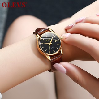 Đồng hồ đôi nam nữ chính hãng OLEVS, dây da bò cực mềm, fulbox chính hãng, mặt kính chống chầy xước,va đập và chống nước tốt, món quà ý nghĩa dành cho các cặp đôi - BH 12 THÁNG - ĐH ĐÔI OLEVS 5