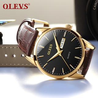 Đồng hồ đôi nam nữ chính hãng OLEVS, dây da bò cực mềm, fulbox chính hãng, mặt kính chống chầy xước,va đập và chống nước tốt, món quà ý nghĩa dành cho các cặp đôi - BH 12 THÁNG - ĐH ĐÔI OLEVS 6