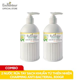 Combo 2 Nước rửa tay sạch khuẩn từ thiên nhiên Enchanteur Charming Anti-Bacterial 300gr Chai - CB01WP100398 thumbnail