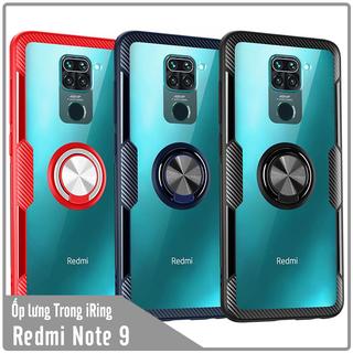 Ốp lưng cho Xiaomi Redmi Note 9 - Redmi 10X (4G) Trong Suốt Chống Sốc iRing Viền Màu - NOT9-TRONG-IRING thumbnail