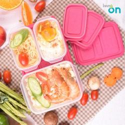 (Lẻ) hộp đựng thực phẩm Hàn Quốc  size trung  17x 12x 6 cm