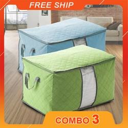 [Freeship] Combo 03 Túi đựng chăn đựng đồ tiện lợi bằng vải không dệt chống ẩm mốc