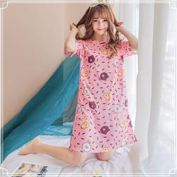 (MIỄN PHÍ SHIP) Váy Ngủ Nhiều Họa Tiết Siêu Dễ Thương Thời Trang Hàn Quốc - AZKids