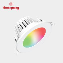 Bộ đèn LED Downlight thông minh Điện Quang Apollo ĐQ SLRD04SM 077DW 115 7W, đa chức năng, 4.5 inch, điều khiển sắc màu RGB, SIG Mesh