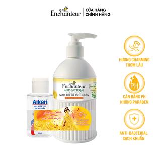 Nước rửa tay sạch khuẩn từ thiên nhiên Enchanteur Charming Anti-Bacterial 300gr - Tặng Gel rửa tay sạch khuẩn Aiken 60ml - 8935212807203_001 thumbnail