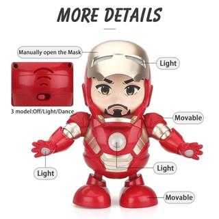 Robot Nhảy Múa Phát Nhạc - Người Máy Iron Man Tặng Kèm 3 Pin Tiểu thumbnail