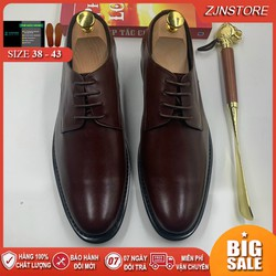 Giày Da Nam Công Sở Oxford Nam Da Bò  Giày Tây Nam Màu Đen Vàng Nâu Size 38 39 40 41 42 43