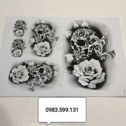 Mẫu hình xăm gợi ý Đầu lâu Hoa hồng ( 15 – 20 hình )