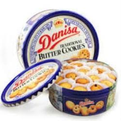 Bánh Quy Bơ cao cấp DANISA hộp thiếc là quà Tết sang trọng 200g