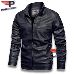 Áo Khoác da nam lót lông thời trang 2020 Pigofashion cao cấp có túi hai bên, tay phối khóa kéo ADN09 - fs01 chọn màu